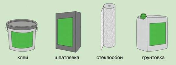 Материалы для поклейки обоев